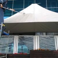 Мойка куполов летней веранды ресторана Солёный Зефир
