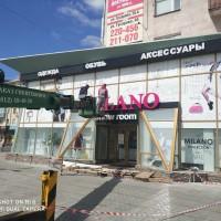 мойка фасада шоу-рум Милано в Омске