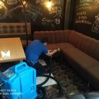 химчистка мягкой мебели ресторана Пушка в Омске